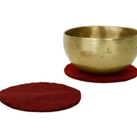Coussin Galette Feutre 10 cm Rouge - 17089