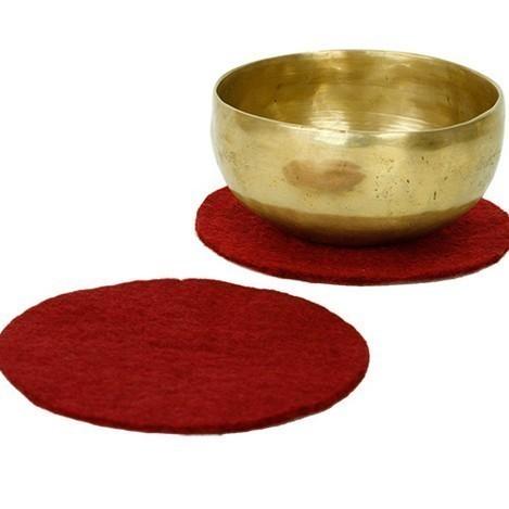 Coussin Galette Feutre 15 cm Rouge - 17090