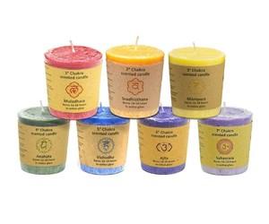 "7 Bougies votives parfumées ""Chakra"" - 640/1"