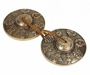 Tingsha Symboles auspicieux 7,5 cm A+ - 19120