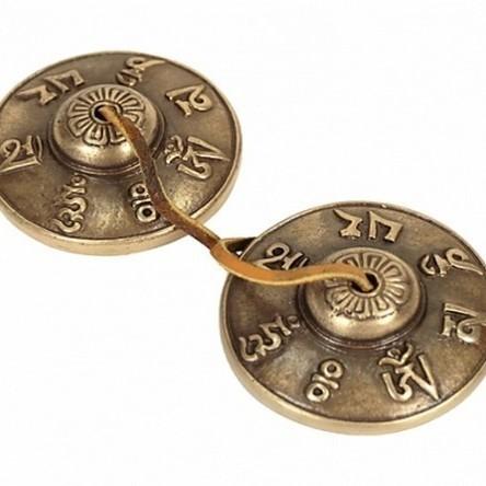 "Tingsha Mantra ""Om Mani Padme Hum"" 7,5 cm A+ - 19116"