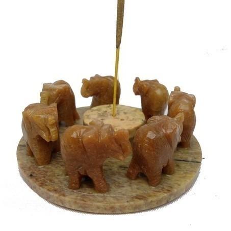 Porte-encens Ronde d'éléphants - W9716