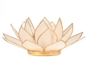 """Porte bougie """"Lotus"""" Nature - 12006"""