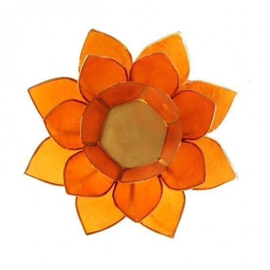 """Porte bougie """"Lotus"""" Orange - 12012"""