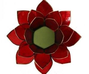 "Porte bougie ""Lotus"" Rouge - 12011"