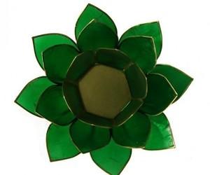 "Porte bougie ""Lotus"" Vert - 12014"