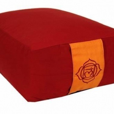 """Coussin Rectangle """"Muladhara"""" Rouge - 8151"""