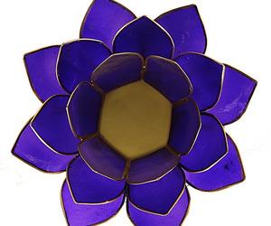 "Porte-bougie ""Lotus"" Indigo - 12016"