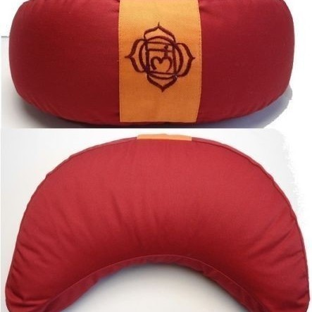Coussin Demi-Lune Rouge - 8161