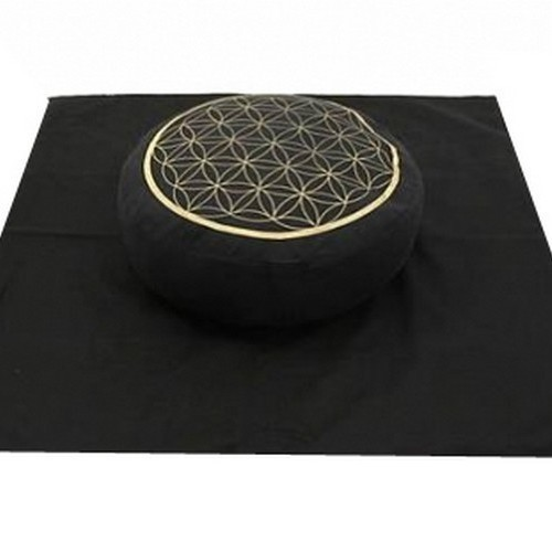 Set de méditation Noir Fleur de Vie