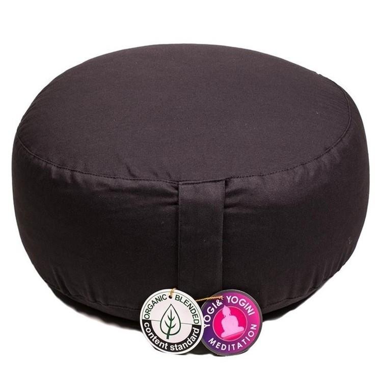 Coussin de méditation Noir Coton Bio - 8051