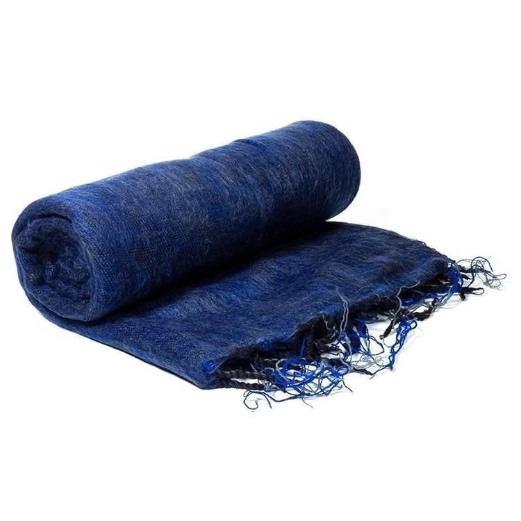 Châle de Méditation bleu foncé 18016