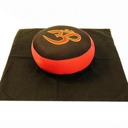 Set de méditation Noir/Rouge OM - 8016/20