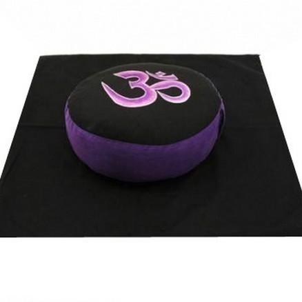 Set de méditation Noir/Violet OM - 8010/20