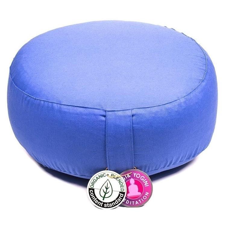 Coussin de méditation Bleu clair Coton Bio - 8059