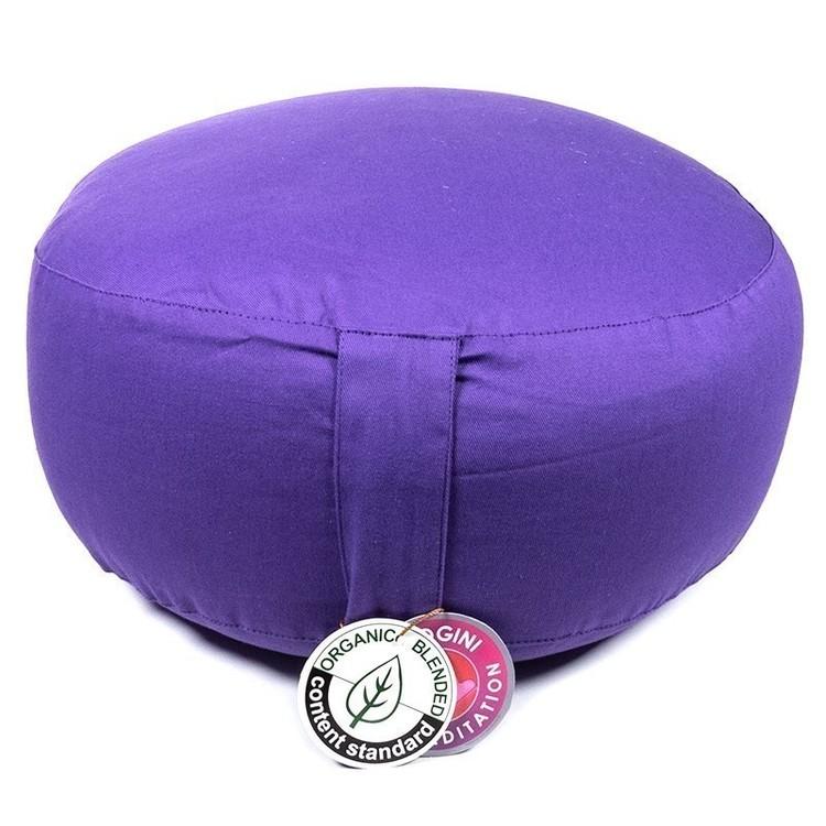 Coussin de méditation Violet Coton Bio - 8060