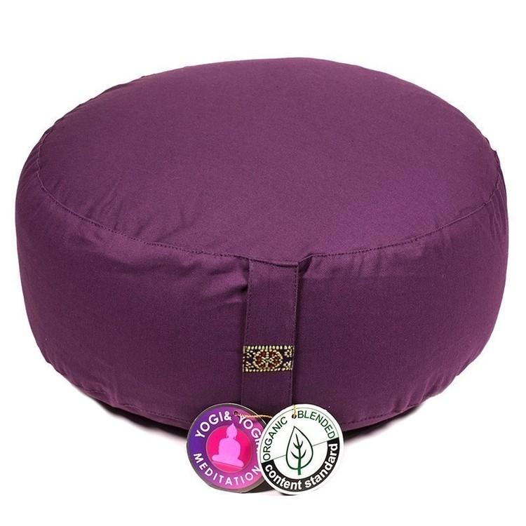Coussin de méditation Violet Foncé Coton Bio - 8233