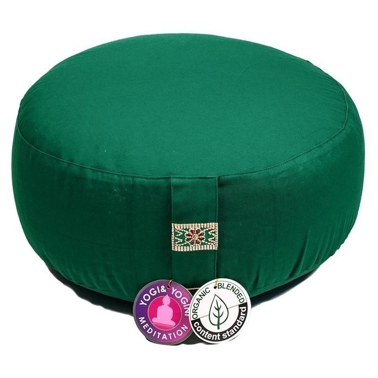 Coussin de méditation Vert Coton Bio- 8053
