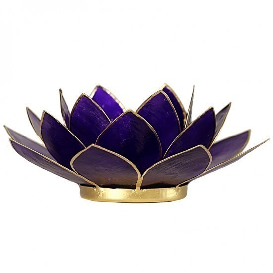 "Porte-bougie ""Lotus"" Violet - 12017"