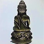 Mini Statuette Bouddha en Laiton 3,4 cm - FI-304