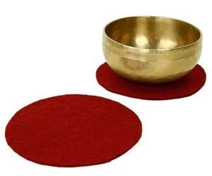 Coussin Galette Feutre 20 cm Rouge - 17091