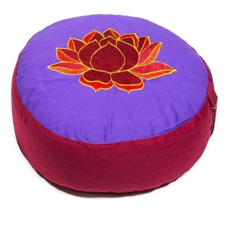 Coussin de méditation Violet/Rouge Lotus - 8017