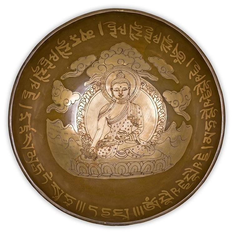 Bol chantant tibétain Bouddha médecine 1700 g. - NE0237/10