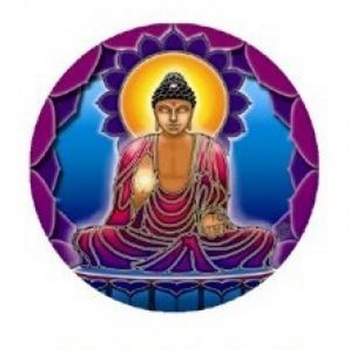 Sticker Bouddha Light - S15