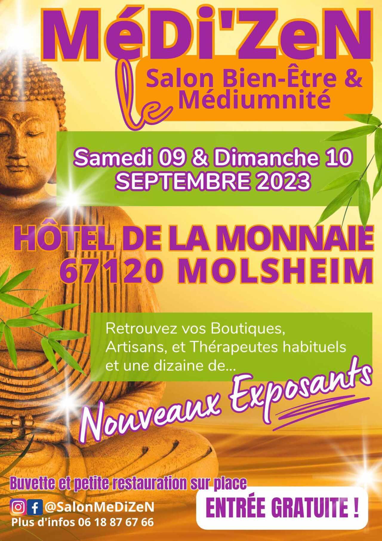salon MEDI'ZEN Molsheim 16/17 octobre 2021